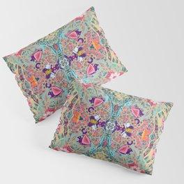 Turquoise Floral Mandala  Pillow Sham
