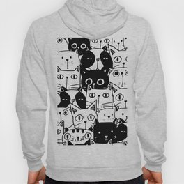 MONOCHROME CAT PATTERN Hoody