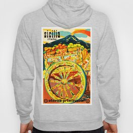 Sicily Italy Vintage Travel Ad Hoody