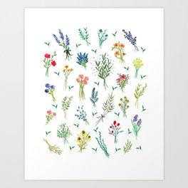 Garden Bouquets Art Print