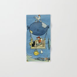 """""""The Airship"""" by W Heath Robinson Hand & Bath Towel"""
