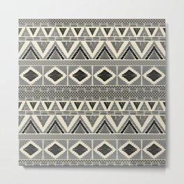 Contemporary African Mud Cloth Print no.1 Metal Print