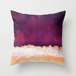 Maroon Ocean Throw Pillow