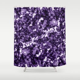 A pastel cluster of violet bodies on a light background. Shower Curtain