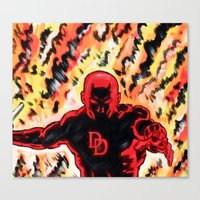 daredevil Canvas Prints featuring Daredevil by MSG Imaging