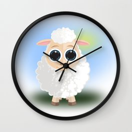 White Sheep Wall Clock