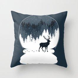 Boule à Neige Throw Pillow