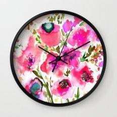 Bouquet Pink  Wall Clock
