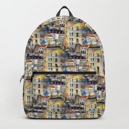 Gamla Stan Old City Stockholm Sweden Architectural Watercolor Landscape Backpack