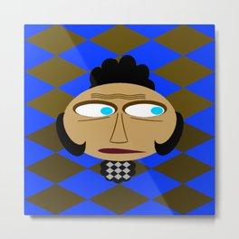bbnyc's funky guy on blue Metal Print