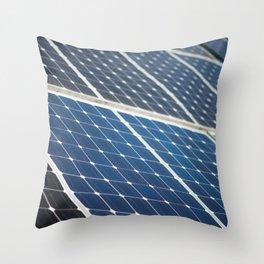 Solar panels Throw Pillow