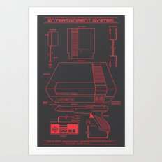 Entertainment System (dark) Art Print