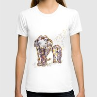 mom T-shirts featuring Elephant Mom by Harsh Malik