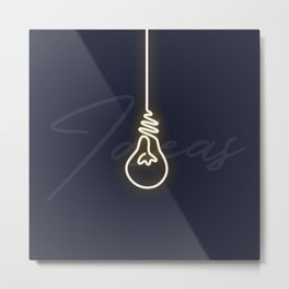 It all starts with an idea Metal Print