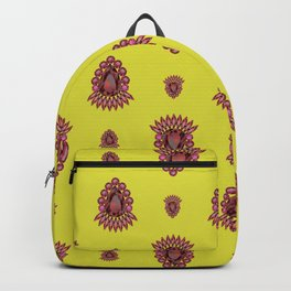 Jewelbox: Ruby Brooch on Citrine Backpack