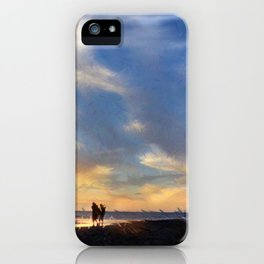 Evening by the sea iPhone Case