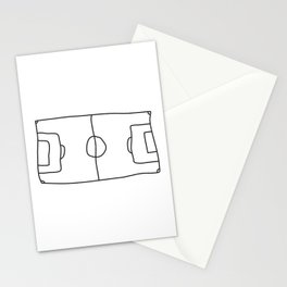 Football in Lines Stationery Cards