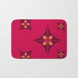 Pata Pattern in Black on Pink Bath Mat