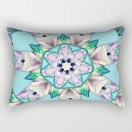 floral star mandala Rectangular Pillow