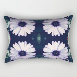 Pristine Petal Pattern Rectangular Pillow