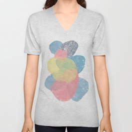 Happy Cairn Graphic Abstract Print Unisex V-Neck