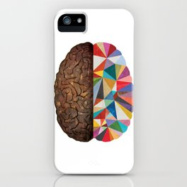 Geometric Brain iPhone Case