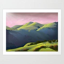 Hamilton Range Art Print