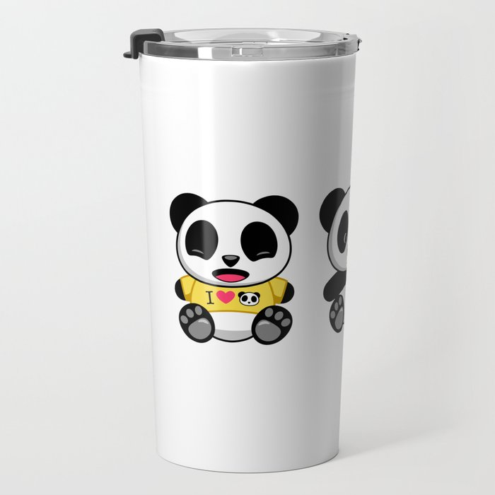 Three Little Pandas Travel Mug