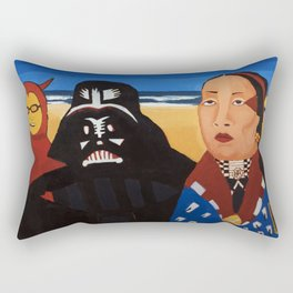 The Devil, Darth vader and Indian Chief Rectangular Pillow