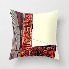 Ruhl's Photography Sign Throw Pillow