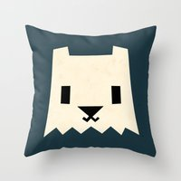 yeti Throw Pillows featuring Yeti by Yetiland