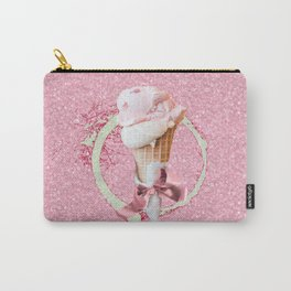 Pink Sugar Icecream Cone Carry-All Pouch