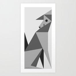 Geo Dog Art Print