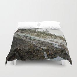 Bridal Veil Falls in Jasper National Park, Alberta Duvet Cover