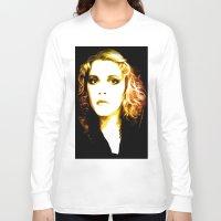 stevie nicks Long Sleeve T-shirts featuring Stevie Nicks - Dreams - Pop Art by William Cuccio aka WCSmack