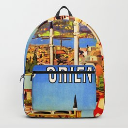 Retro travel poster — Istanbul, Backpack