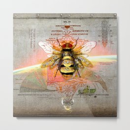 THE FLIGHT OF THE BUMBLE BEE (The Sign of Life Collection) Metal Print