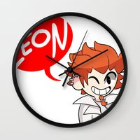 dangan ronpa Wall Clocks featuring Baseball by dartty