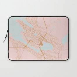 Bergen map, Norway Laptop Sleeve