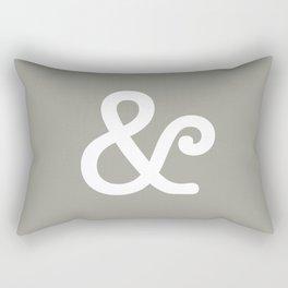 Ampersand Neutral Rectangular Pillow