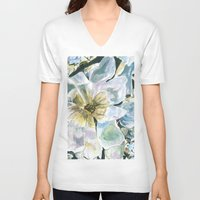 magnolia V-neck T-shirts featuring Magnolia by Spirit Works