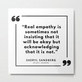 29  | Sheryl Sandberg Quotes | 190902 Metal Print