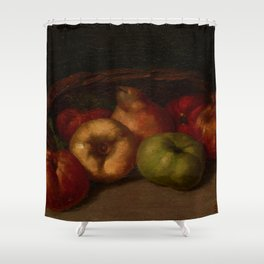 "Gustave Courbet ""Still Life with Apples, Pear, and Pomegranates"" Shower Curtain"