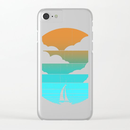 Go West (sail away in my boat) Clear iPhone Case