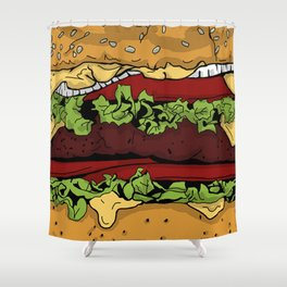 Cheeseburger Shower Curtain