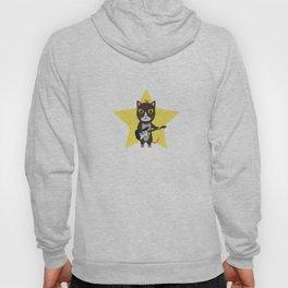 Rock-Music Cat Hoody