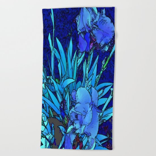 Iris Beach Towel