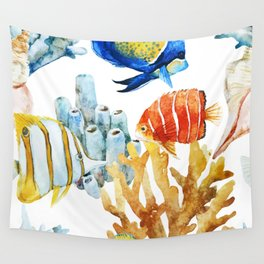 Fish Pattern 07 Wall Tapestry