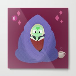 Peri in a blanket Metal Print
