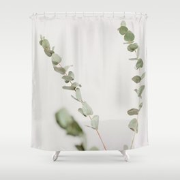 Minimalist Zen Green Plant Scandinavian House Plant Photo Shower Curtain